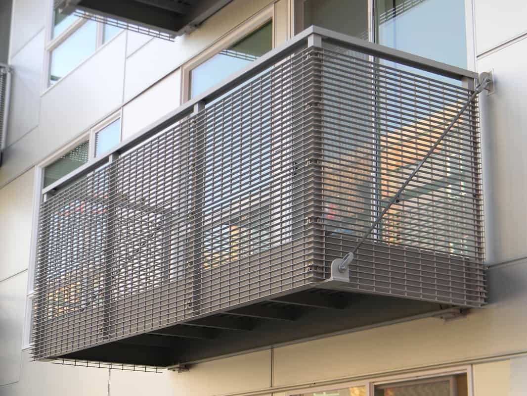 Balcony With Custom Bar Grate Railing Skyline Engineered